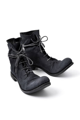 A DICIANNOVEVENTITRE A1923 LACE UP BOOTS 045 / KANGAROO REVERSED (NERO / BLUE BLACK)