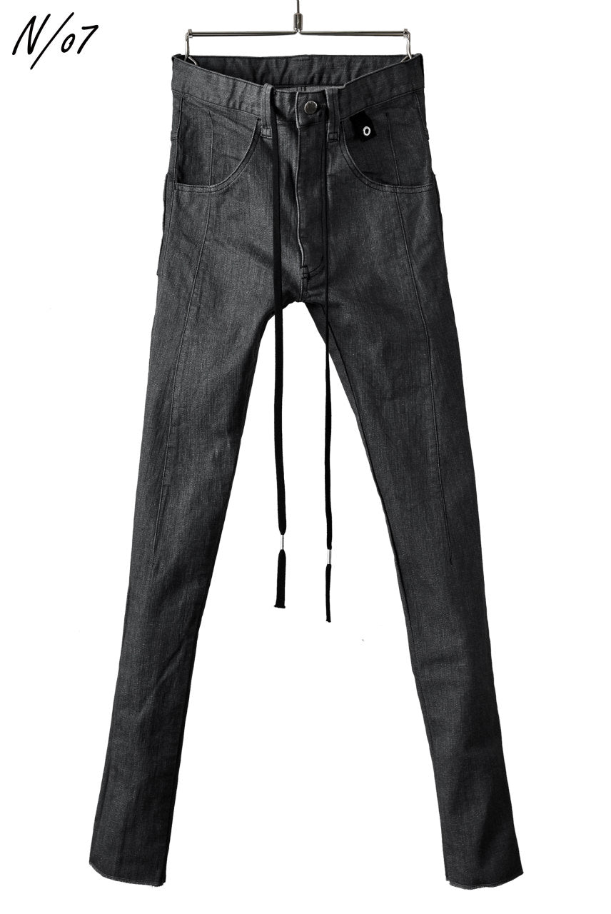 画像をギャラリービューアに読み込む, N/07 Darts-Structure Skinny Pants #THIN / Elastic DENIM (D.GREY)