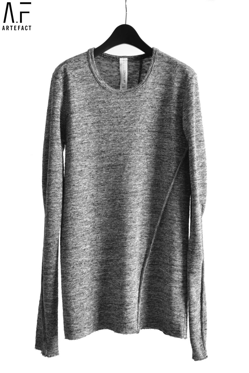A.F ARTEFACT exclusive KNITSEWN TOPS / SLAB TWEED (GREY)