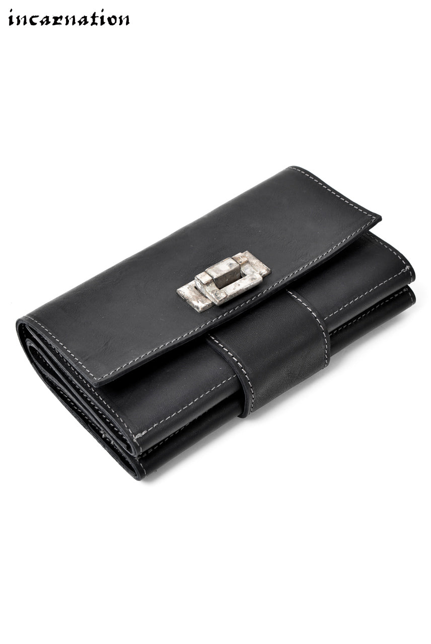 incarnation WAXY HORSE LEATHER CLUTCH WALLET