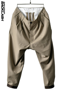 画像をギャラリービューアに読み込む, ISAMU KATAYAMA BACKLASH WIDE TUCK CROPPED TROUSERS (BEIGE)