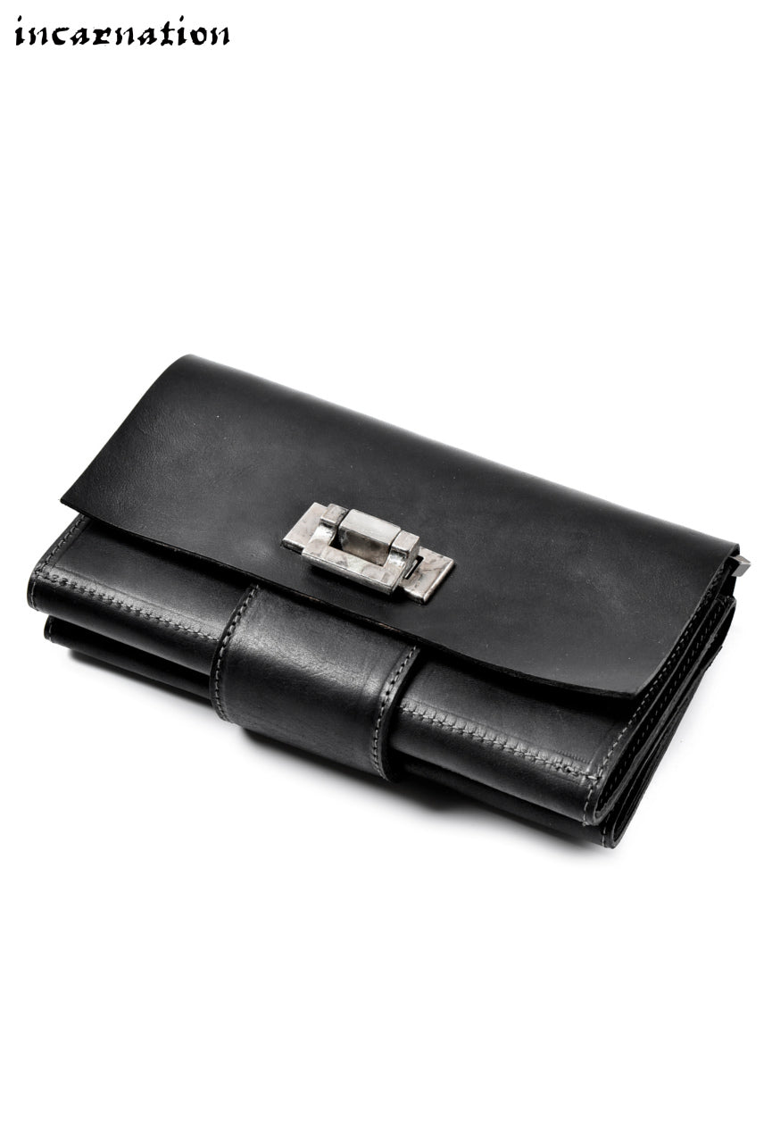 "incarnation exclusive ""GUIDI CULLATA"" LEATHER CLUTCH WALLET"