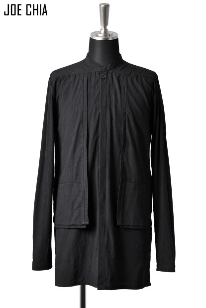 JOE CHIA exclusive PANELLED SHIRT (BLACK)