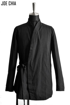 画像をギャラリービューアに読み込む, JOE CHIA exclusive CURVE BUTTON STAND SHIRT-JACKET (BLACK)