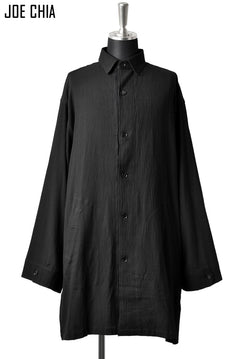 画像をギャラリービューアに読み込む, JOE CHIA OVERSIZED LONG SHIRT JACKET / YOURYU (BLACK)