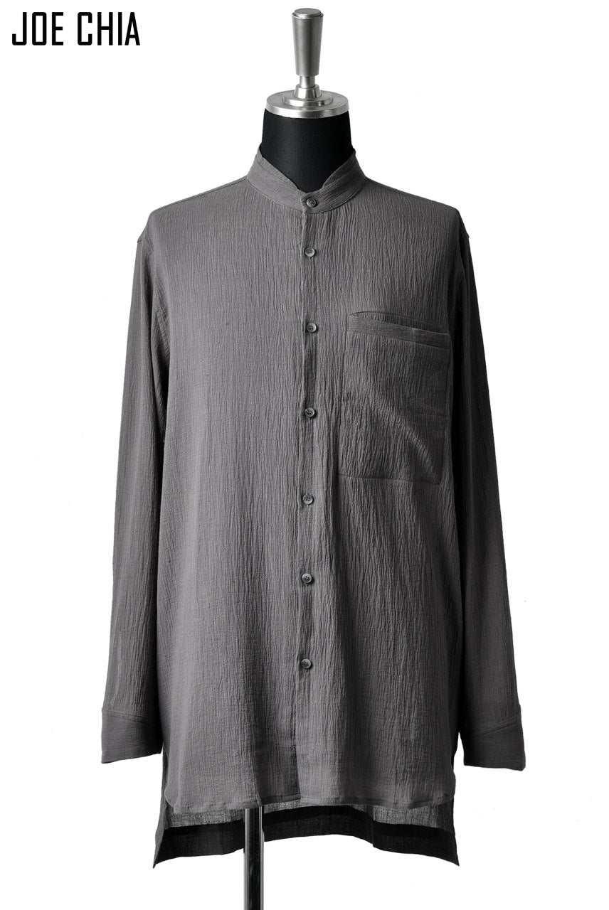 JOE CHIA BUTTON DOWN SHIRT / YOURYU (GREY)