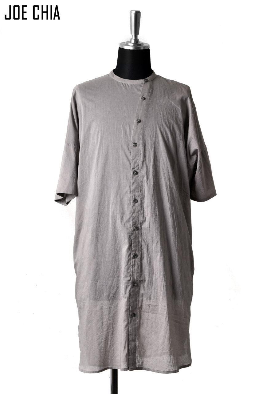 JOE CHIA FUNNEL BUTTON STAND SHIRT (GREY)
