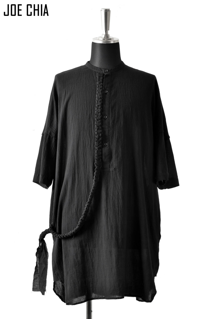 JOE CHIA BRAIDED DOWN SHIRT / YOURYU (BLACK)
