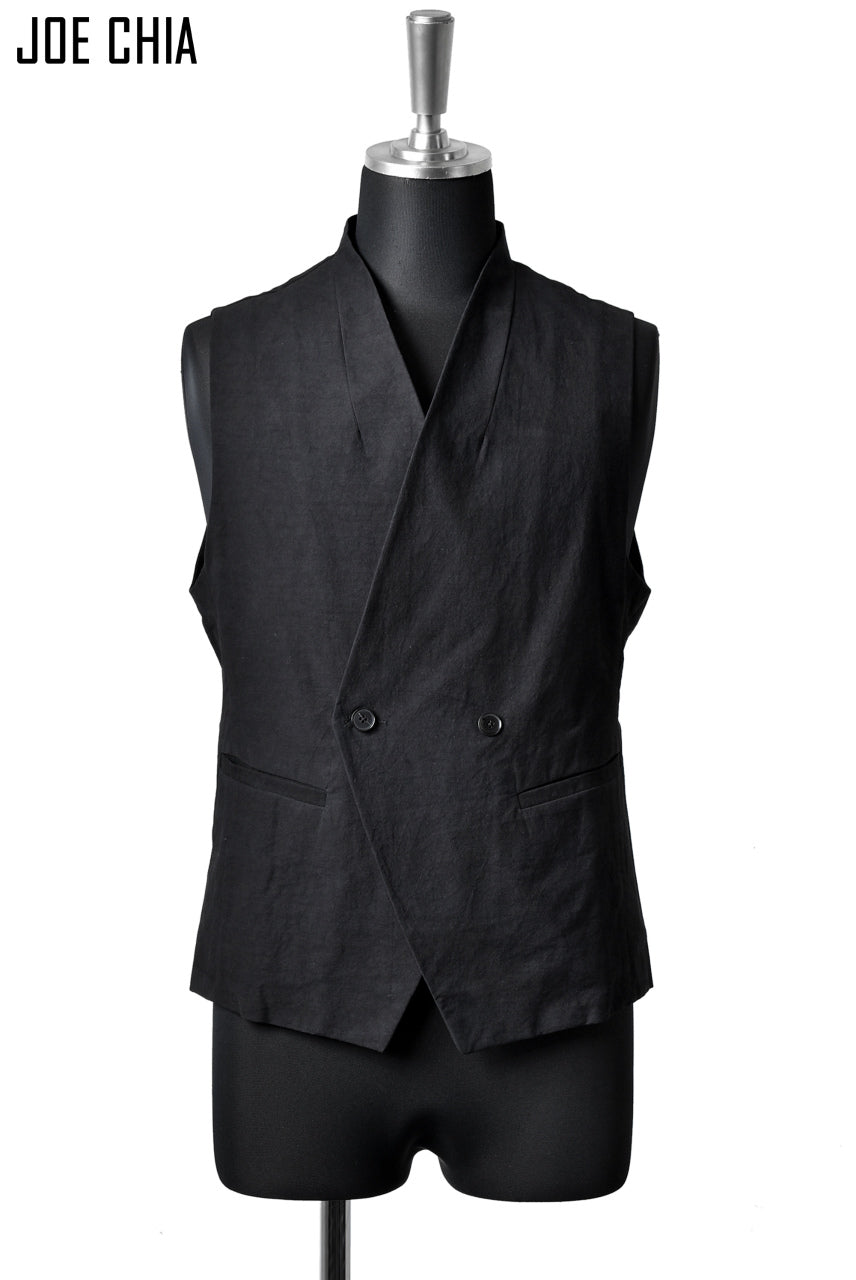 JOE CHIA RAPEL LESS VEST (BLACK)