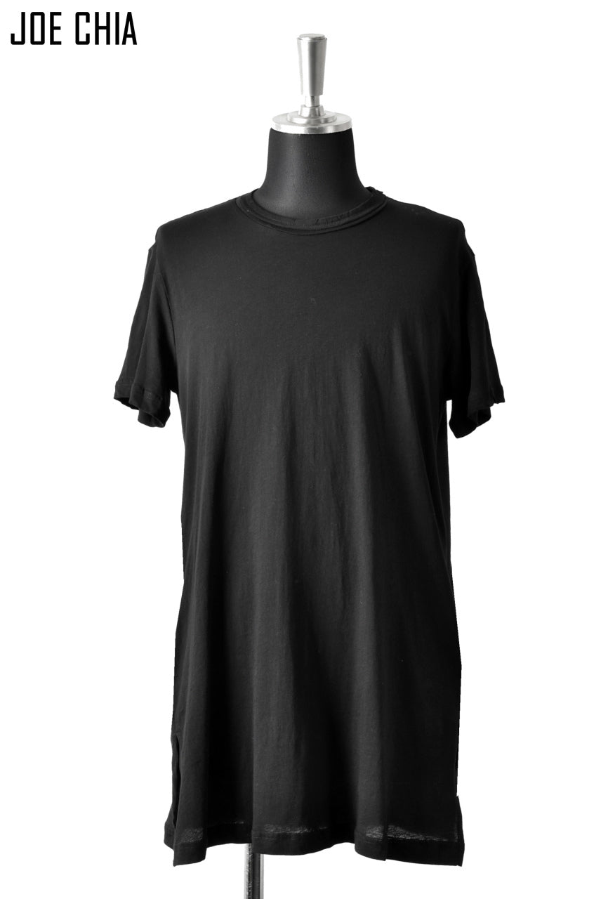 JOE CHIA BACK PLEAT TSHIRT / LIGHT WEIGHT COTTON (BLACK)
