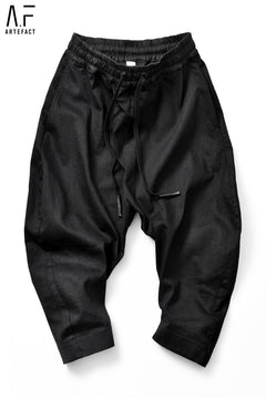 画像をギャラリービューアに読み込む, A.F ARTEFACT exclusive CURVED-JODPHUR CROPPED PT / HIGH STRETCH DENIM (BLACK)