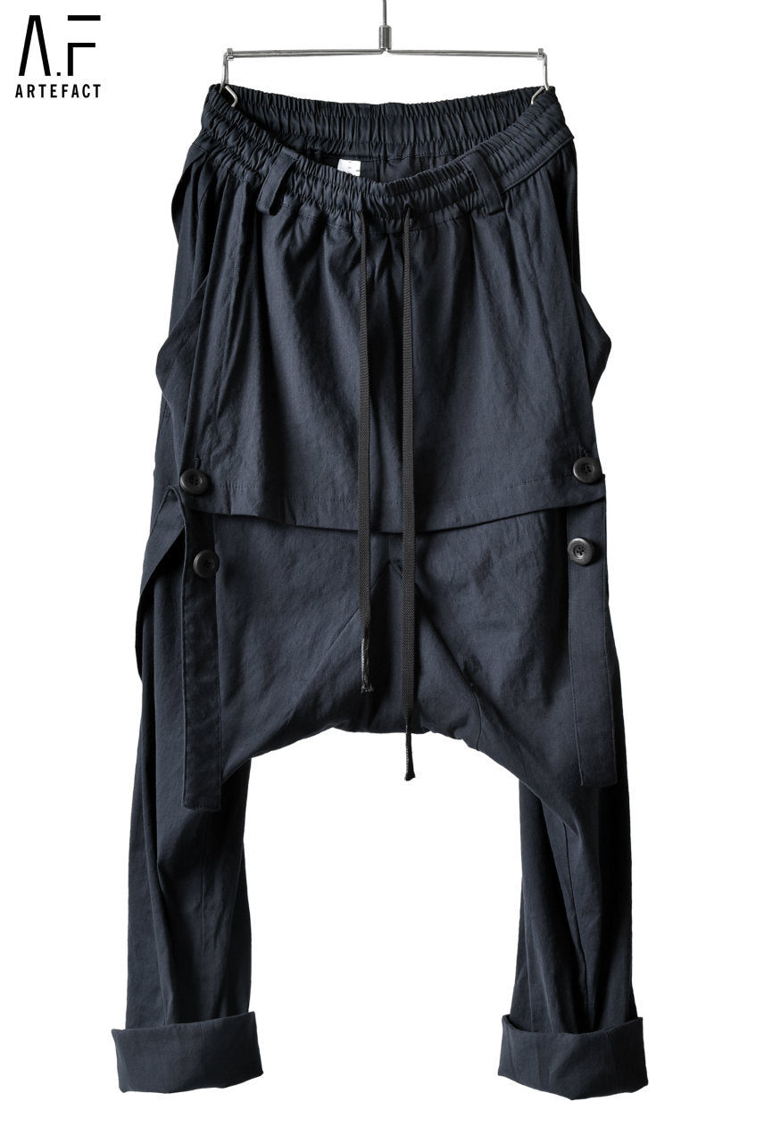 A.F ARTEFACT exclusive SUSPENDER DETAIL TROUSERS / HIGH-STRETCH LINEN