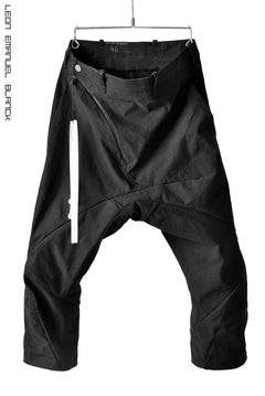画像をギャラリービューアに読み込む, LEON EMANUEL BLANCK DISTORTION 3 QUARTER CHEM PANTS / OCTOTHORPE DIAMOND WEAVE (BLACK)