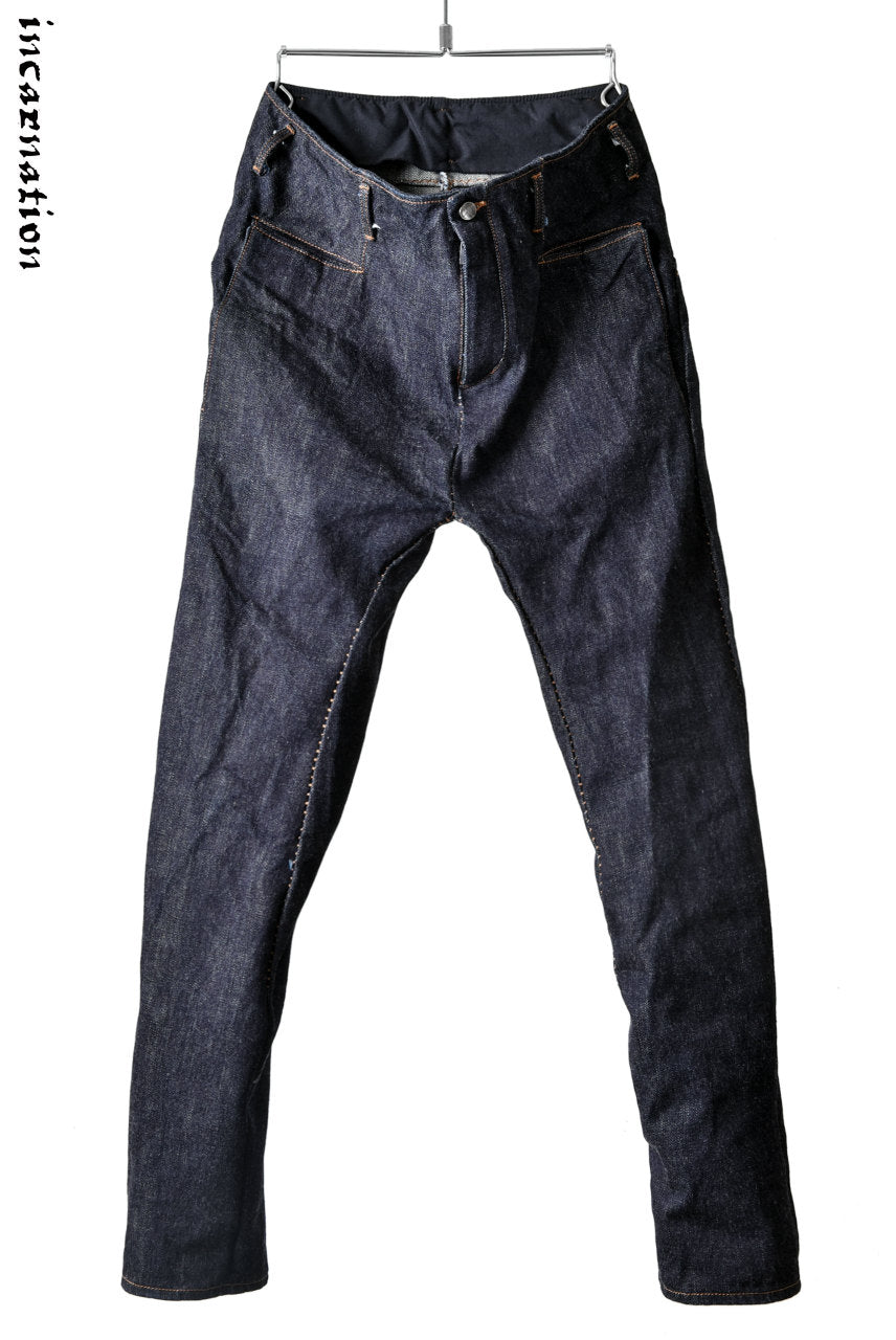 incarnation exclusive LONG DARTS SLIM TROUSERS / 15.5oz Zimbabwe Denim
