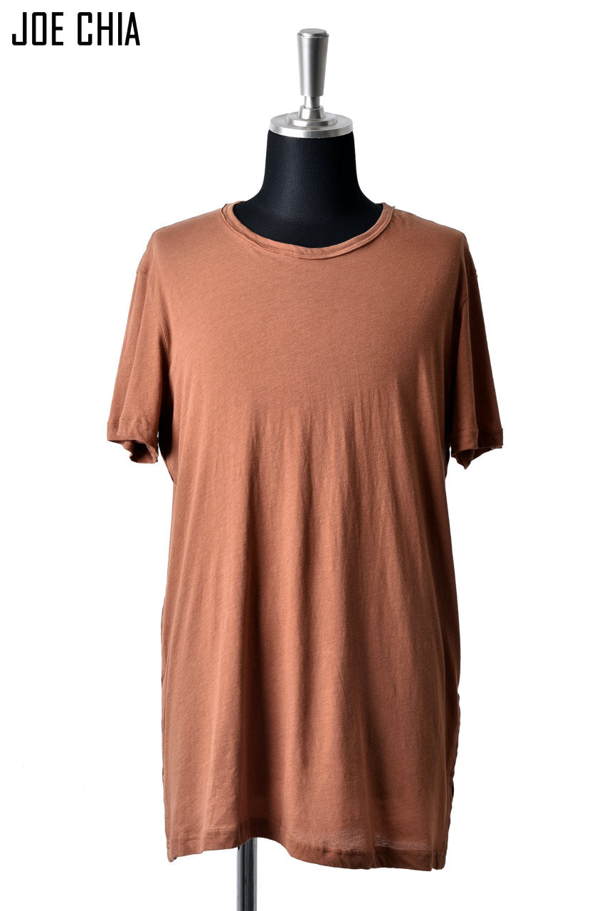 JOE CHIA SIDE PLEAT TSHIRT / LIGHT WEIGHT COTTON (GINGER)