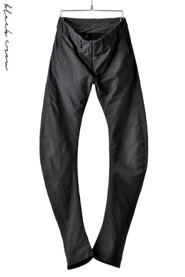 blackcrow high density cotton banana shape trousers (BLACK)