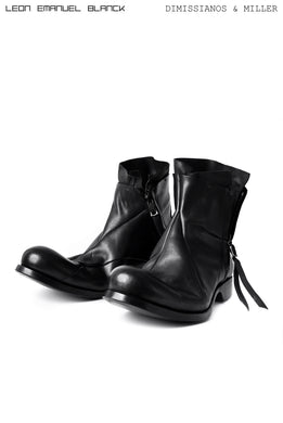 LEON EMANUEL BLANCK x Dimissianos & Miller DISTORTION ANKLE BOOTS / GUIDI HORSE OILED (BLACK)