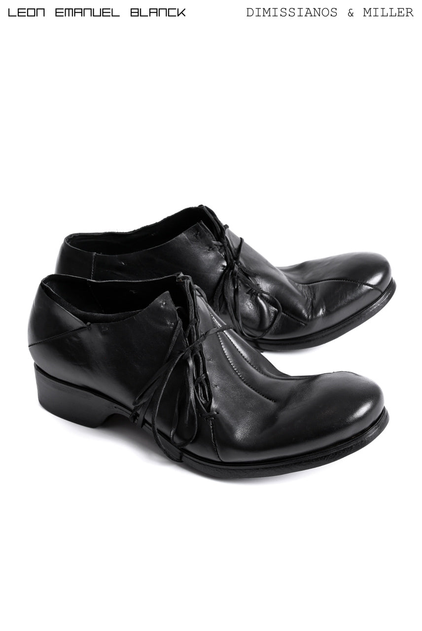 LEON EMANUEL BLANCK x Dimissianos & Miller DISTORTION SCAR LACED DERBY / GUIDI HORSE OILED (BLACK)