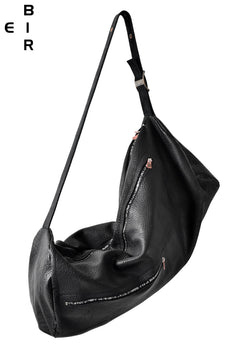 Load image into Gallery viewer, ierib exclusive shoulder drum bag / horse shrink (BLACK)