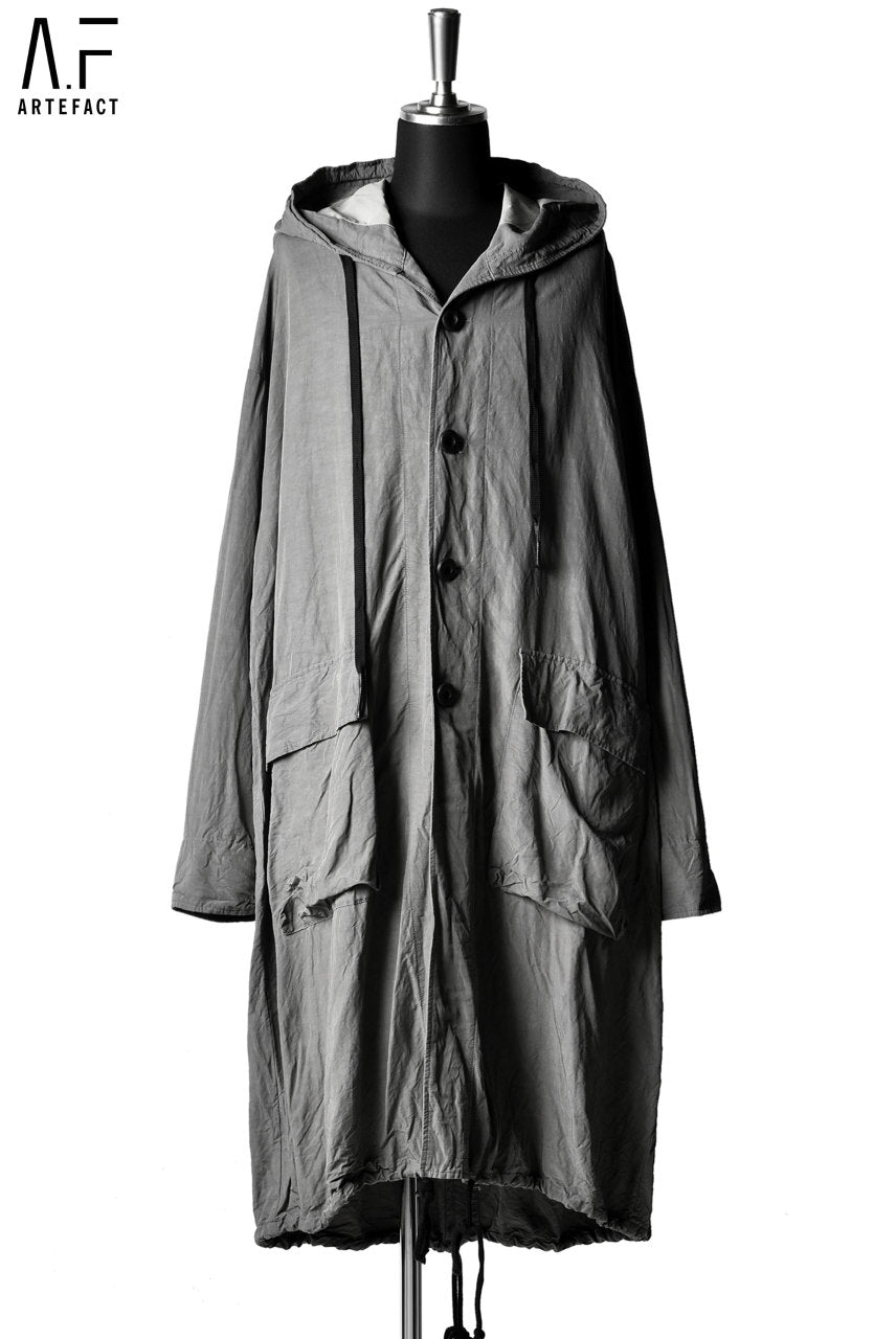 A.F ARTEFACT BIG HOODED LONG COAT (KHAKI)