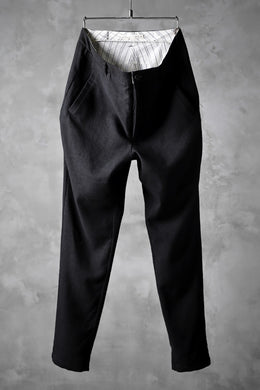 Aleksandr Manamis Lean Slim tapered pants / wool+linen cloth