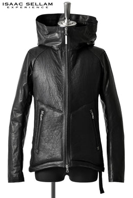 ISAAC SELLAM EXPERIENCE BALISTIQUE SHEARLING/DOWN HOODED JACKET (NOIR)