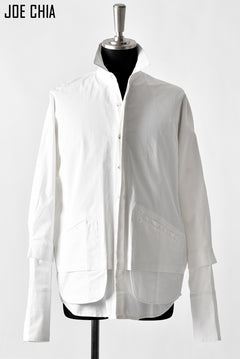 画像をギャラリービューアに読み込む, JOE CHIA OVERSIZED DOUBLE LAYER SHIRT (OFF WHITE)