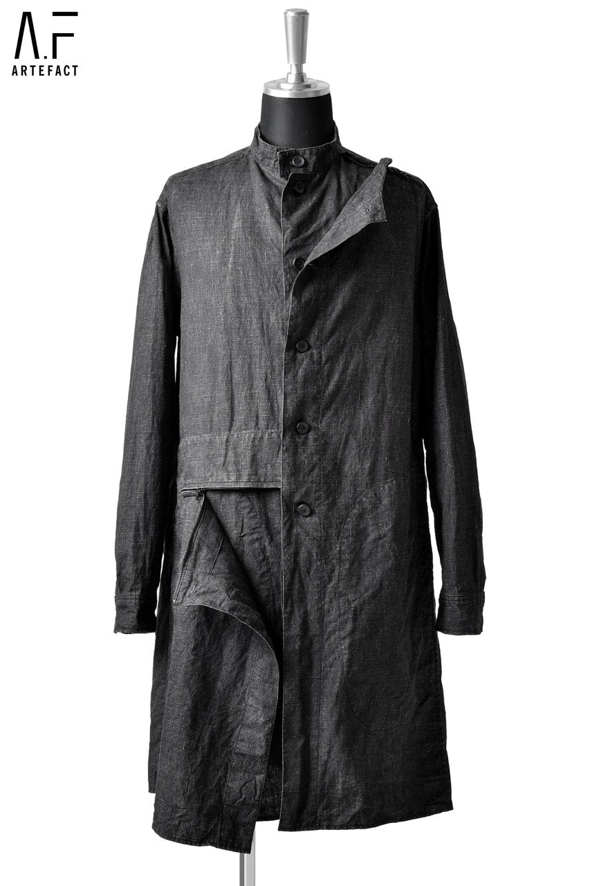 Load image into Gallery viewer, A.F ARTEFACT LAYER SHIRT-COAT / JP-INK LINEN