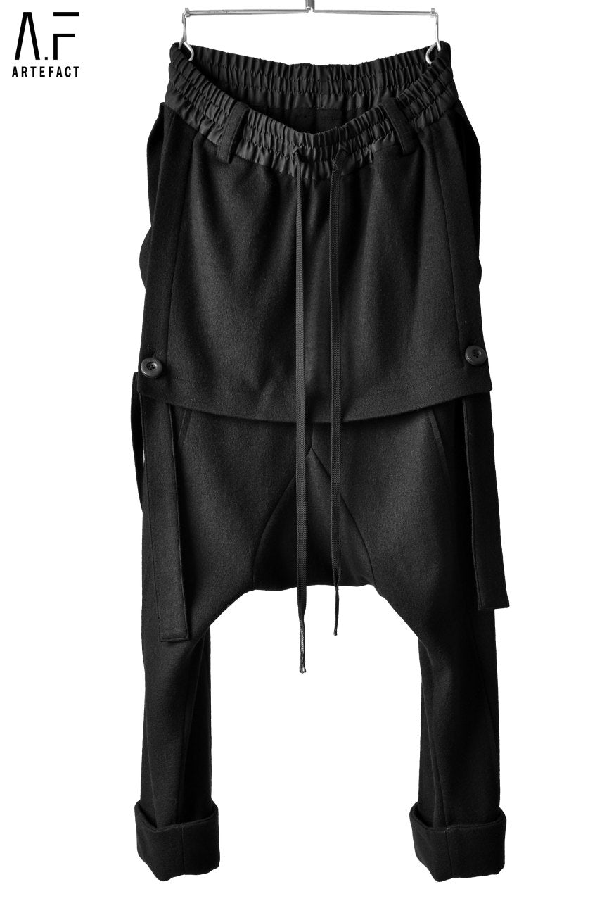 Load image into Gallery viewer, A.F ARTEFACT SUSPENDER DETAIL TROUSERS / COMPRESSION WOOL