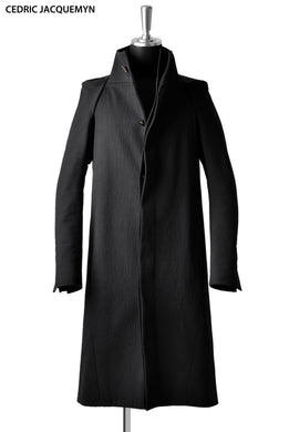 CEDRIC JACQUEMYN STRAIGHT LONG COAT BLACK)