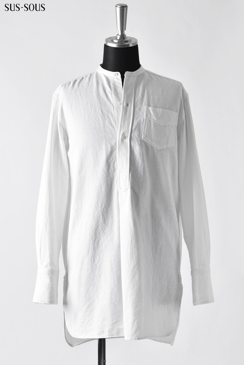 sus-sous shirt long with HOKKOH (WHITE)
