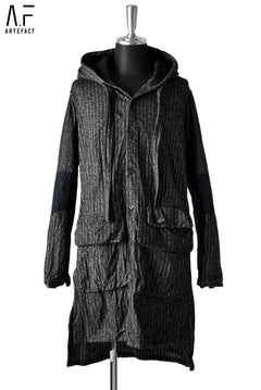 画像をギャラリービューアに読み込む, A.F ARTEFACT HOODED WORK COAT / Sumi Bincho Stripe