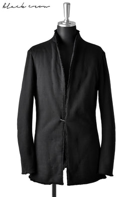 blackcrow lapelless jacket (heavy boa jersey) (BLACK)