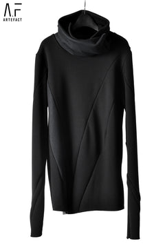 Load image into Gallery viewer, A.F ARTEFACT exclusive BomberHEAT® HIGHNECK WRAP TOPS (BLAC×BLACK WEAVE)