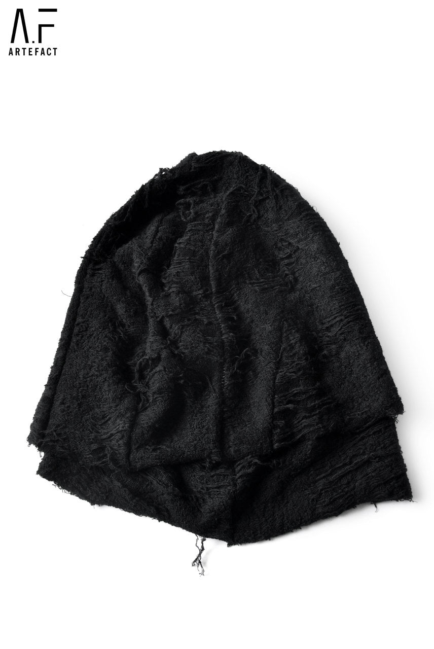 A.F ARTEFACT exclusive GRUNGY PILE KNIT LAYERED CAP