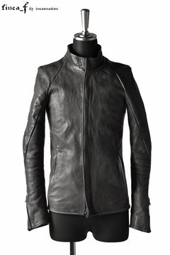 画像をギャラリービューアに読み込む, linea_f by incarnation 1.0/1.1mm Heavy Calf Leather Jacket (GREY)