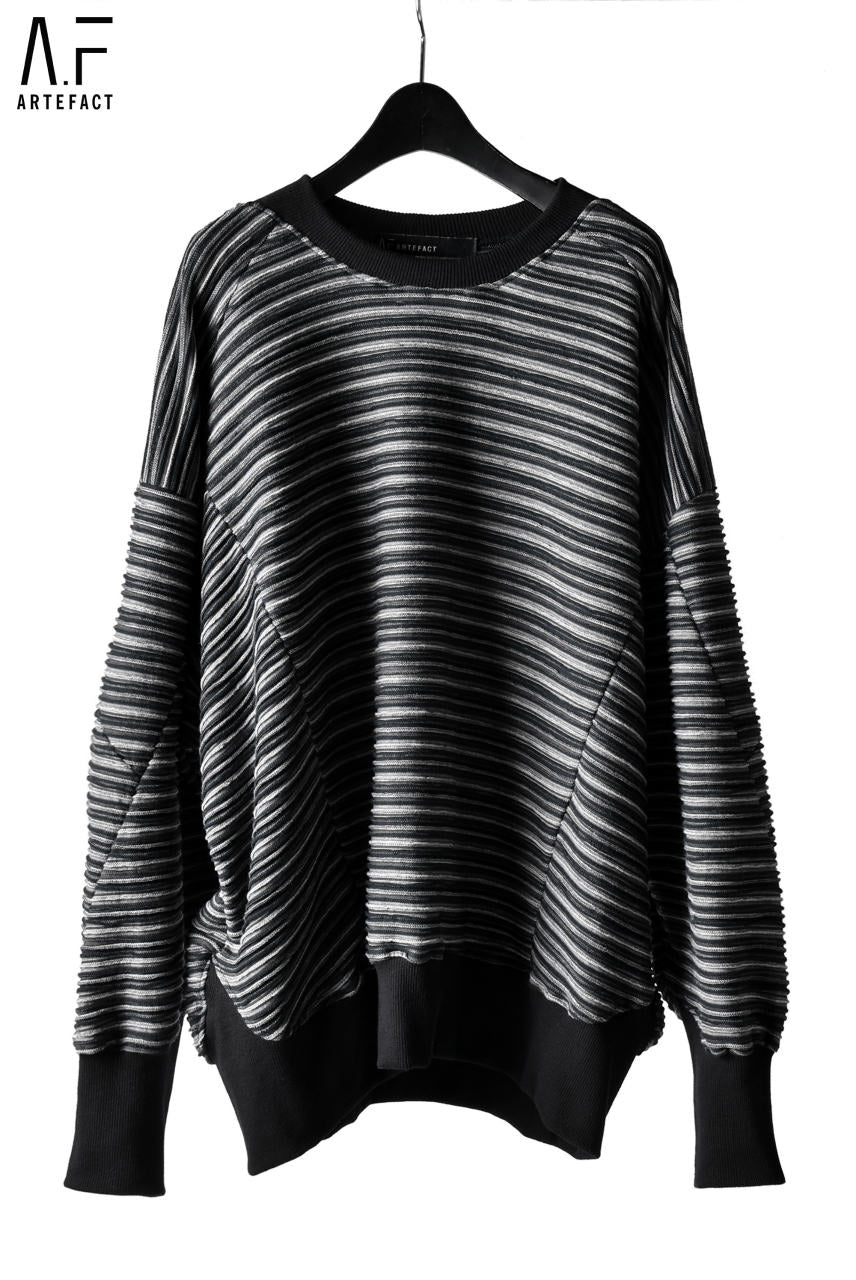 A.F ARTEFACT exclusive MULTI-INLAY-KNIT OVERSIZED TOPS