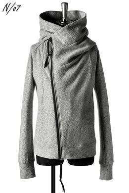 N/07 Wrap Hooded Jacket / Woolring Fleece (MELANGE GREY)