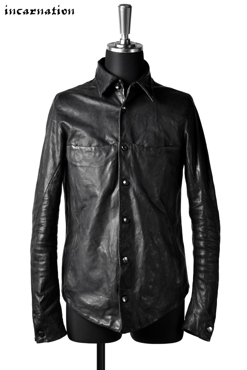 incarnation exclusive SHEEP LEATHER BD SHIRT-JACKET #2 LINED
