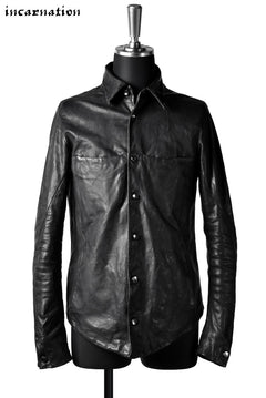 画像をギャラリービューアに読み込む, incarnation exclusive SHEEP LEATHER BD SHIRT-JACKET #2 LINED