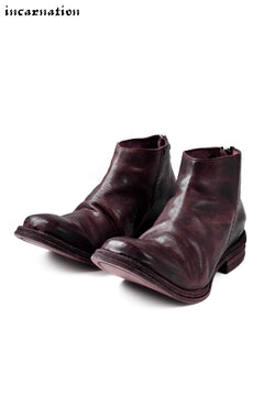 Load image into Gallery viewer, incarnation exclusive HORSE LEATHER BACK ZIP SHORT BOOTS / HAND DYED
