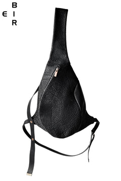 画像をギャラリービューアに読み込む, ierib One Shoulder Bag with Harness Belt / Shrunken Rough Bull (BLACK)