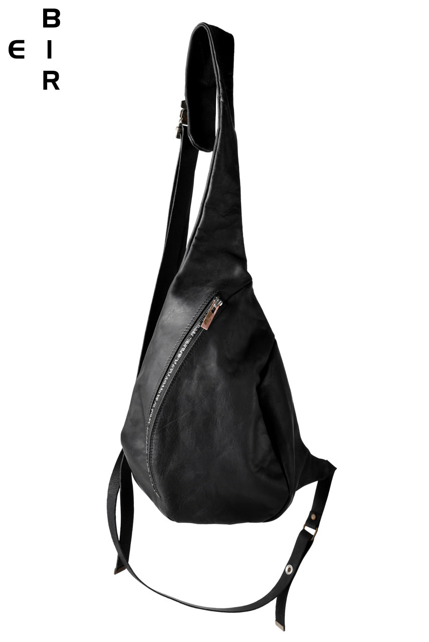 Load image into Gallery viewer, ierib One Shoulder Bag with Harness Belt / Nicolas Italy Vachetta (BLACK)