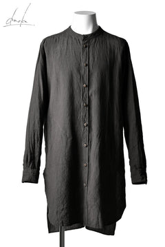 Load image into Gallery viewer, daska (johan) long shirt / linen natural (BROWN)