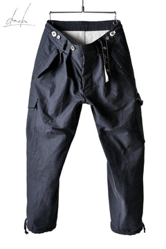 Load image into Gallery viewer, daska (d-37) field cargo pants / cotton+wool (NAVY)