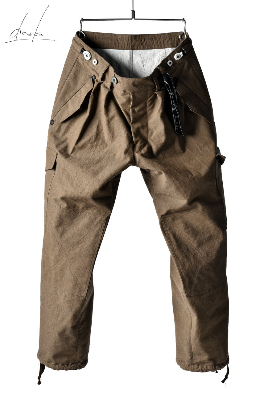daska (d-37) field cargo pants / cotton+wool (BROWN)