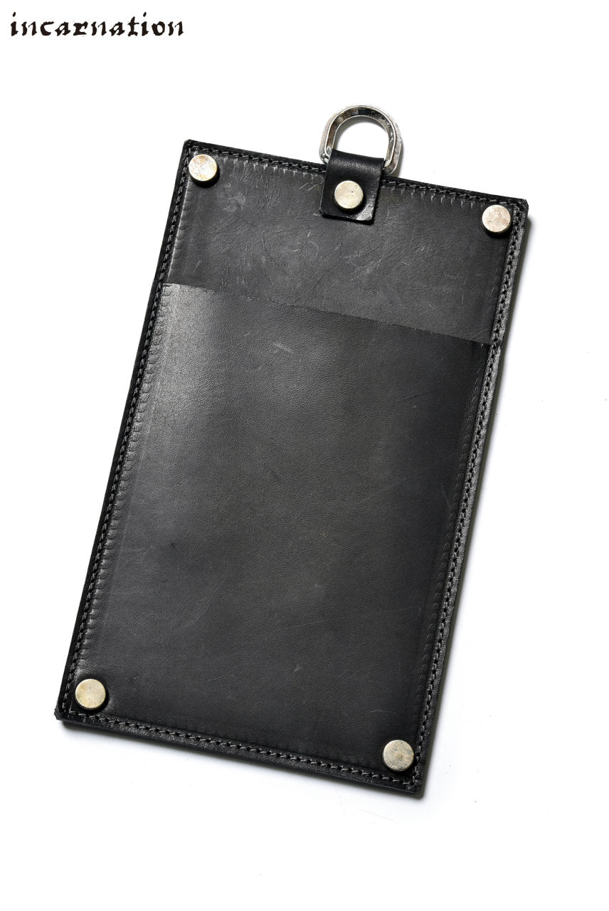 incarnation exclusive CALF SHOULDER LEATHER POUCH with D-RING