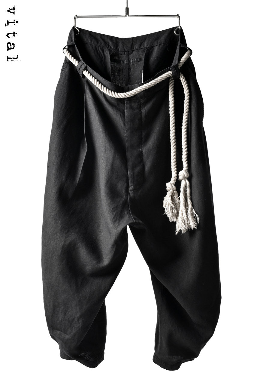Load image into Gallery viewer, _vital roped tuck pants / pure linen