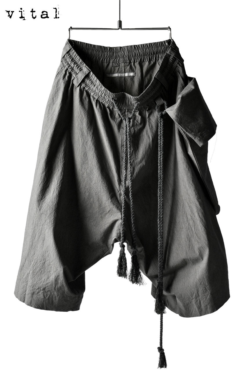 _vital dropcrotch shorts with hanging pocket