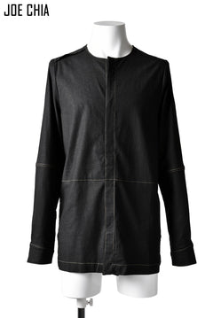 画像をギャラリービューアに読み込む, JOE CHIA STITCHED DETAIL SHIRT / Elastic-Linen, Viscose (BLACK)